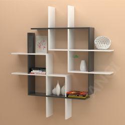 Angi combina estante de pared de madera Estante De Libros Muebles bricolaje GB2804
