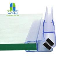 Ducha de la puerta de vidrio resistente al agua tira cierre magnético de la junta de la puerta de cuarto de baño acristalamiento de plástico