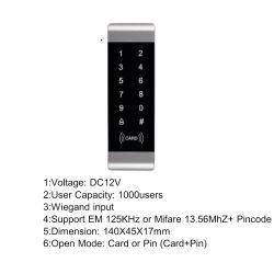 Lettore di schede metallico di caso RFID con il regolatore con Wiegand 26