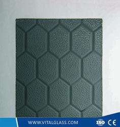 3-6mm Beehive Pattern de Bronze en verre avec ce&ISO9001/verre façonné