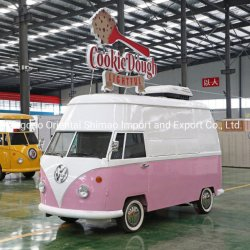 Mobile VW usado Electric Fast Food Truck com cozinha conveniente Máquina de Venda Directa de Café e gelado para catering
