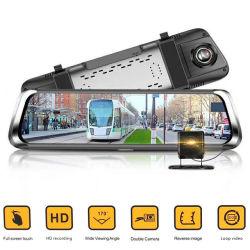 hintere Ansicht-Spiegel-Auto-Kamera des 9.66full Screen-Gedankenstrich-Nocken-1080P mit Nachtsicht
