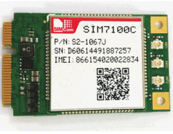 Nouveau Simcom 4G LTE Module de communication sans fil7100c de la carte SIM mini PCIE