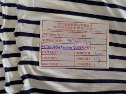 Один Джерси, полосатые ткани, трикотажные/ бамбуковые волокна ткани/ спандекс ткань