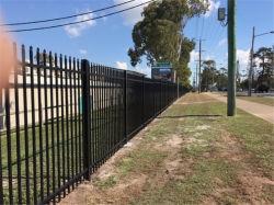 Трубчатая стальная линейка пикета/порошковое покрытие саду через забор из кованого железа