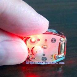 Mini wasserdichtes LED Blinkenlicht mit Schwingung-Schalter für Kleidung-und Schuh-Dekoration Bn-Wfl-1220