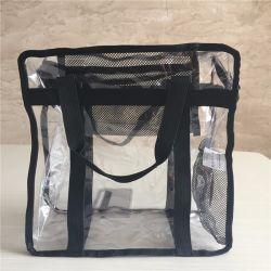 حقيبة يد شفافة من مادة PVC لامعة للنساء، حقيبة يد مصنوعة من الكتف رخيصة