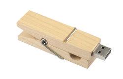 ペン駆動機構木製クリップUSB 4GB 8GB 16GB 32GB 64GB USBのフラッシュ駆動機構のメモリ棒のPendriveのギフトはクリップ128GB USBのフラッシュ・メモリに着せる