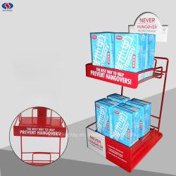 小売店のための熱い販売のミルクワイヤー版の陳列だな