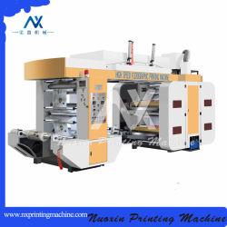 4 el color de tinta solvente para la película de plástico máquinas de impresión flexográfica
