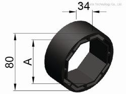 Plastik/Rolling-Blendenverschluß des adapter-Ringes (Gefäße Oktober 60)