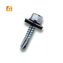 La perforación automática de cabeza hexagonal tornillos techado