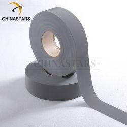 100 % polyester à haute visibilité réfléchissants matériau de bandes de tissu d'avertissement