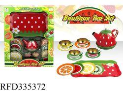 La mini tazza di tè di stampa della frutta del giocattolo della cucina di migliore vendita imposta il partito di tè del piattino impostato per i capretti