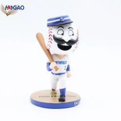 Nuovo poli giocatore di baseball creativo del Figurine dello sportivo della resina Bobblehead