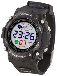 Hot vendre point Flash LED lumière 3ATM résistant à l'eau Mens numérique montre de sport de poignet