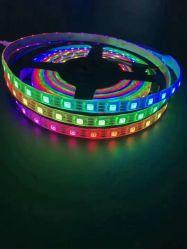16,4 ft 5m DC12V WS2811 30 LEDs/M 150LEDs 30 pixels impermeável IP67 PCB Negro Direccionable Flexível Tira de LED