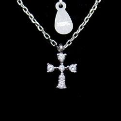 特別な立方ジルコニアの十字の純粋な銀製の宝石類が付いている整形クリスチャンのネックレス