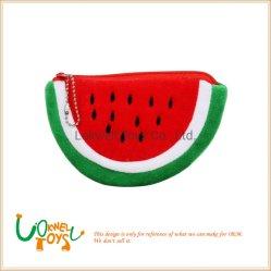 Frucht-Serien-Wassermelone-Münzen-Fonds-Mappen-Kasten-Plüsch-Beutel