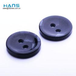 Hans fabriqués en Chine de vêtements à coudre les boutons de chemise noire