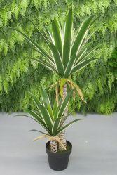 "Planta de Agave artificial de 40"" de árbol en la sembradora de plástico con musgo para decoración de interiores/exteriores"