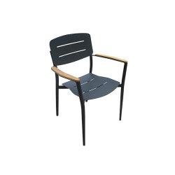 Presidenza stabilita della Tabella del metallo del teck della mobilia di legno di alluminio esterna del ristorante