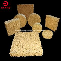 CFF di ceramica del filtrante della gomma piuma dell'allumina Al2O3 con il formato differente del poro utilizzato nella filtrazione di alluminio