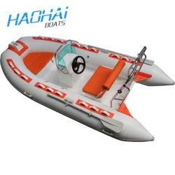 CE más nuevo modelo de fibra de vidrio Embarcación inflable barco de pesca de la velocidad// El deporte en barco a motor/Bote de Remos (RIB360B)