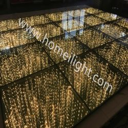 Specchio stellato RGB dorato 3D Dance Floor