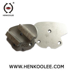 Plancher de béton avec barre double disque de meulage 40x10x10mm