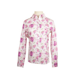 Leisure Apparel Printed Cotton Spring Fashion Blouse For Ladies