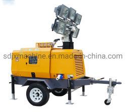 4*1000Wメタルハライドランプの油圧持ち上がる移動式照明タワー