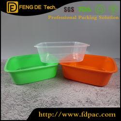Casella di pranzo di microonda dei 3 pacchetti, contenitore di alimento di plastica di microonda di memoria (impostare) (230ml 590ml 1.25L)