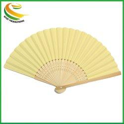 Ventola Manuale Pieghevole In Carta Di Bambù Stampata Su Misura Promozionale