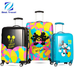 Cartoon le logo OEM marque PC ABS Animal chariot d'impression imprimer Spinner bagages de voyage