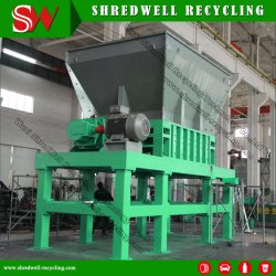 Les déchets industriels à faible vitesse voiture déchiqueteuse pour recycler le métal utilisé