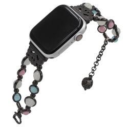 ハンドメイドのビードのAppleの時計バンド38mm 40mm 42mm 44mmストラップのIwatchシリーズのための明るい瑪瑙のブレスレット1/2/3/4/5本の時計バンド
