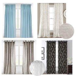 Texpro 2020 cortina de ventana nueva, enorme y negro de cortina
