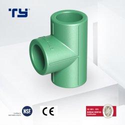 2020 균등한 티 PPR 플라스틱 파이프 표준 인증서로 할 수 있습니다 OEM 피팅