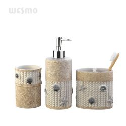 Embarcaciones de la mano de resina de arenisca de accesorios de baño decoración del hogar