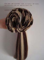 手で作った人間の髪のワフト / ウィービング