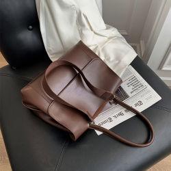 중국 도매 패션 여성 스트랩 핸드 백 대형 PU 가죽 Lady Sling Shoulder Tote Bag