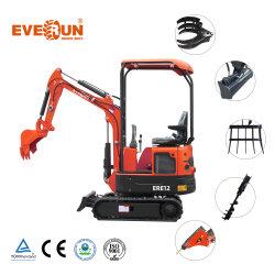 Everun Ere12 1.2 طن من حفار الصين الصغير الهيدروليكي الصغير ماكينات للبيع حفار حفار