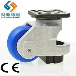 4 Zoll-Schwenker-einziehbares industrielles Hochleistungsfußrollen-Rad