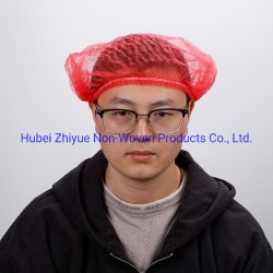 Superventas de la fábrica Xiantao 100PCS bolsas desechables Venta caliente PP Nonwoven Clip de protección de la tapa/Tapa Bouffant/cabeza hueca