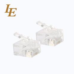 Cat3 3um à 50um à RJ11 6P2C du connecteur UTP connecteur modulaire