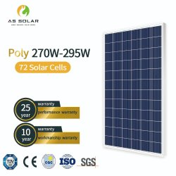 최고 품질의 솔라 패널 275W 280W 285W 290W Poly Solar 패널 가격