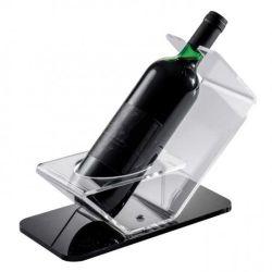 Comercio al por mayor de la pantalla de plástico transparente Botella de Vino Base con 1 botella