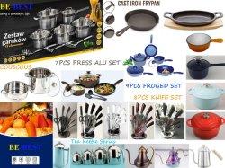 Elementi del Cookware del ghisa & dell'acciaio inossidabile