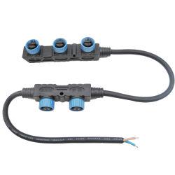 Светодиодная подсветка IP67 электрические F форма Мужчины Женщины мощности M15 Разветвитель кабеля